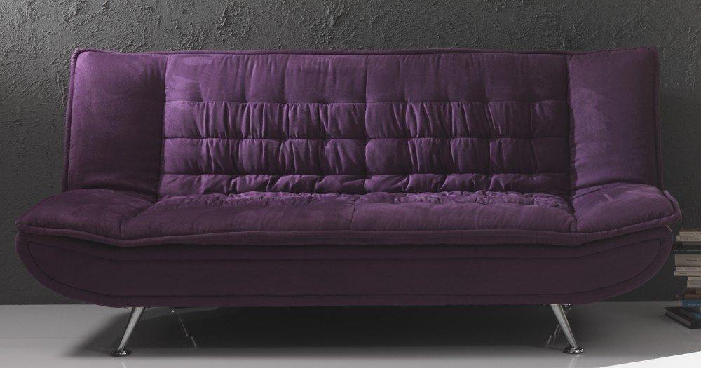 Divano purple o cream da 1 piazza e mezza libro - Divani letto clic clac ...