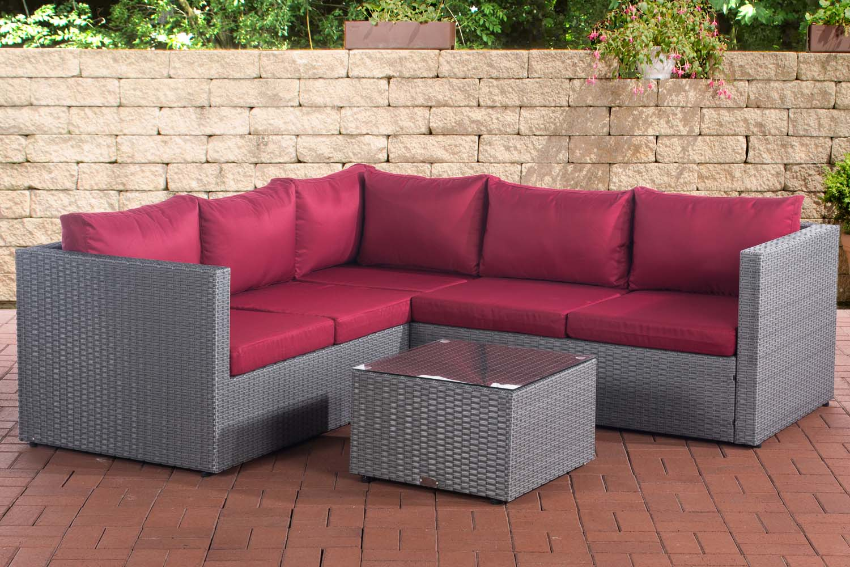 Divani Da Esterno Impermeabili divano angolare da esterno 6 posti con tavolino