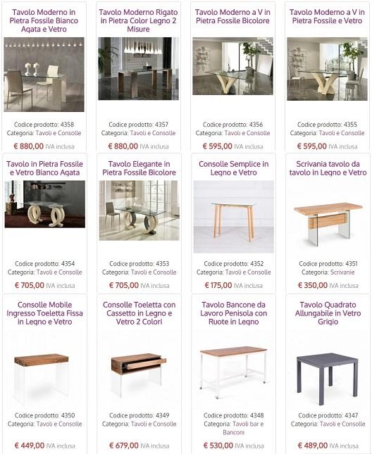 Nuovi tavoli e consolle