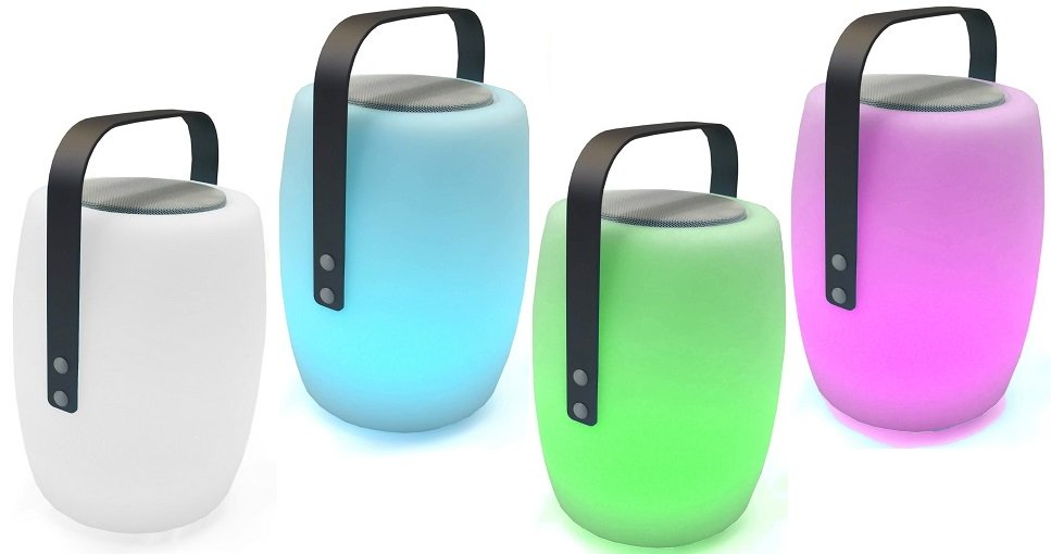 Lampada Portatile Cassa Altoparlante Bluetooth Multicolor