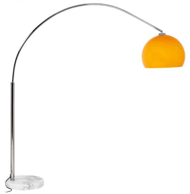 Lampada da lettura ad arco colore arancio o bianco ebay for Lampada da lettura