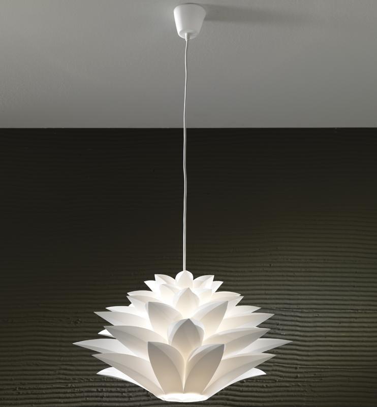 lampadario sospeso : Lampadario Sospeso Tulipano Bianco
