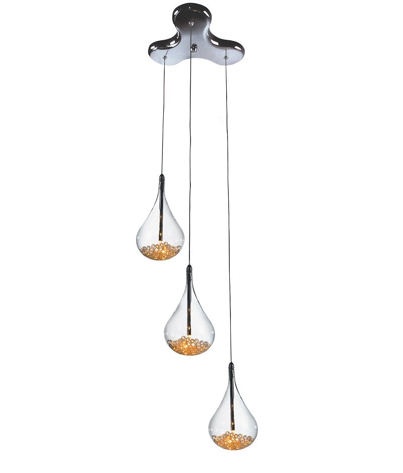 lampadario sospensione : Lampadario sospensione 3 Luci con Cristalli