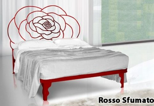 Letto flower in ferro battuto in 6 allegri colori - Letto in ferro battuto prezzo ...