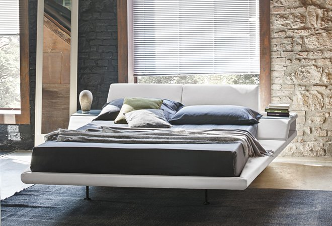 Letto Matrimoniale Space con Comodini Integrati