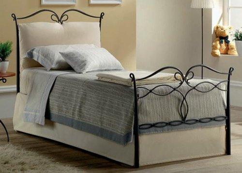 letto singolo ferro battuto intrecciato