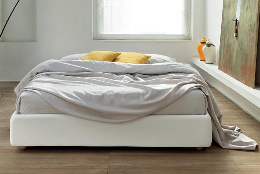 letto sommier 140 senza testiera con contenitore. Black Bedroom Furniture Sets. Home Design Ideas