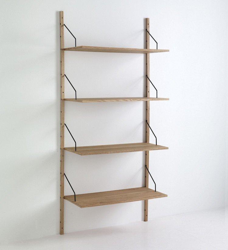 Libreria scaffale da parete in legno for Scaffali libreria in legno