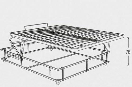 Meccanismo contenitore tutte le misure di letto - Sistema per letto contenitore ...
