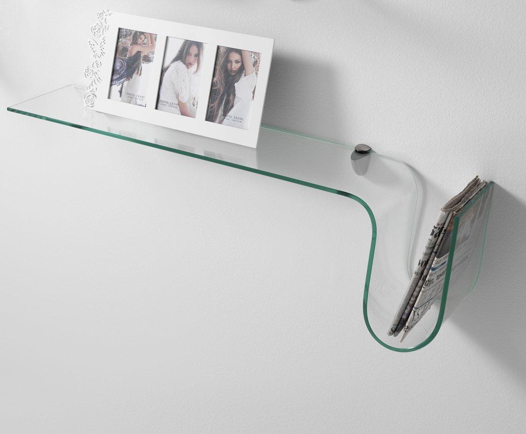 Preferenza Mensola da Muro in Vetro porta riviste con Reggimensola ZI03