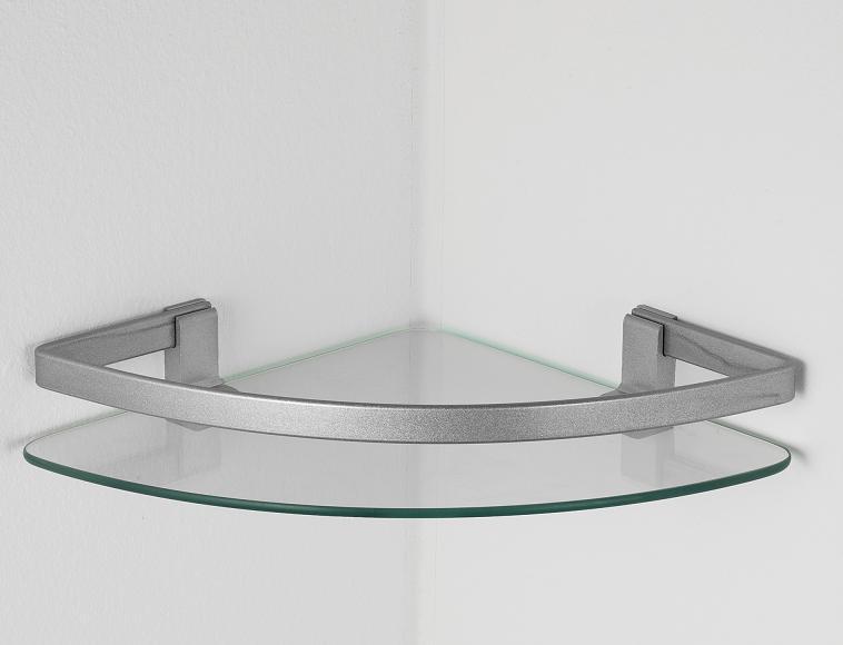 Mensola in vetro forma angolare o rettangolare for Mensole ikea vetro