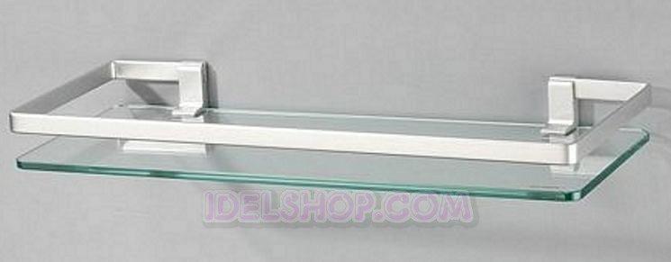 mensola in vetro forma angolare o rettangolare