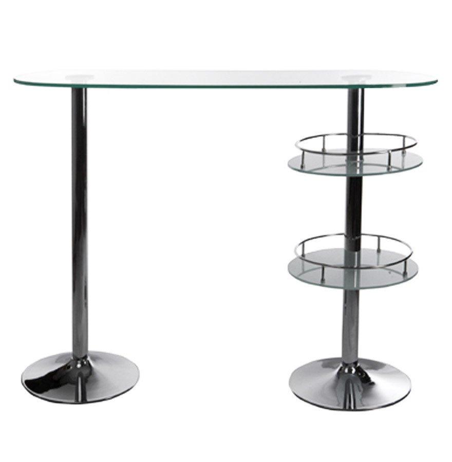 Mobile tavolo bar consolle bancone in vetro for Mobile tavolo
