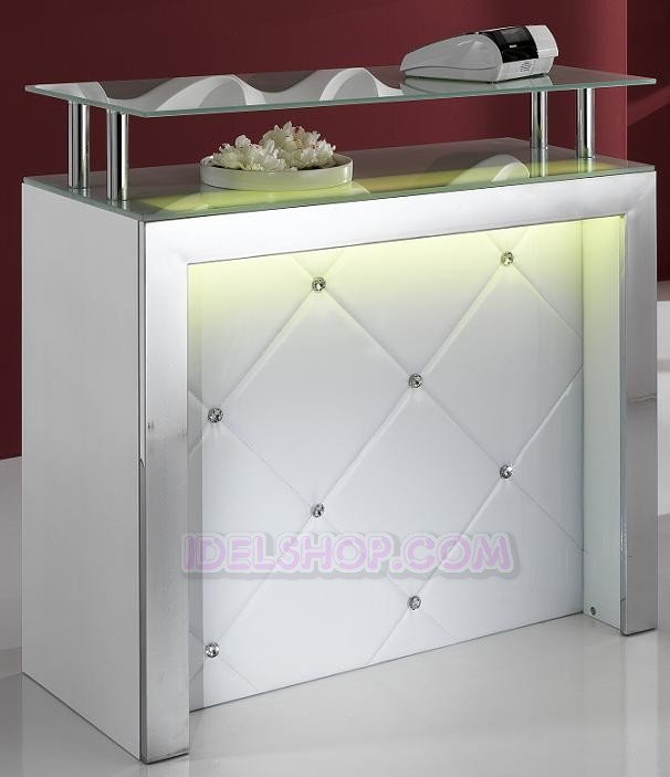 Mobile tavolo bar reception bancone con luce led ebay for Reception da ufficio