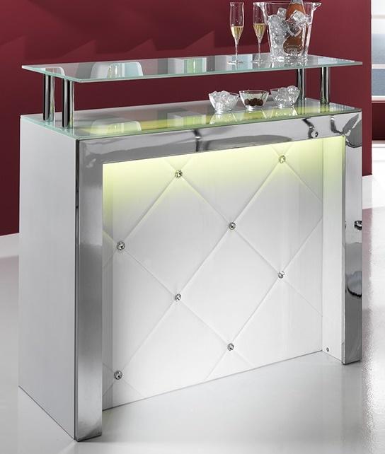 Mobile tavolo bar reception bancone con luce led ebay - Bancone bar per casa ...