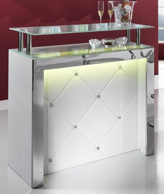 Mobile tavolo bar reception bancone con luce led ebay for Bancone bar casa