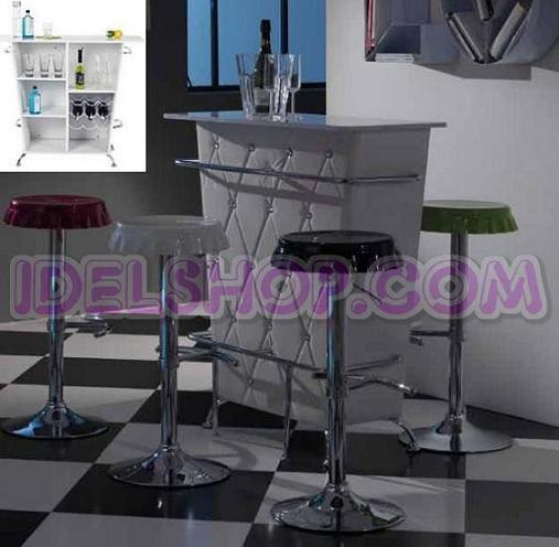Mobile tavolo consolle bar moderno 2 colori ebay - Mobile bar moderno ...