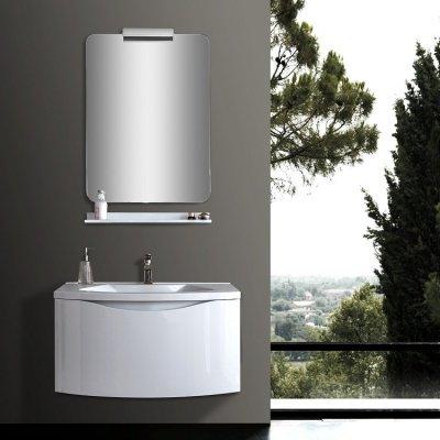 Mobile da bagno con lavabo 80 cm laccato bianco - Mobile bagno 80 ...