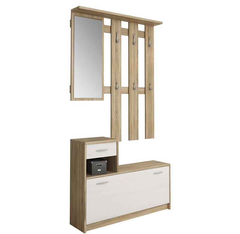 Mobile da Ingresso Entratina Scarpiera Appendiabiti e Specchio