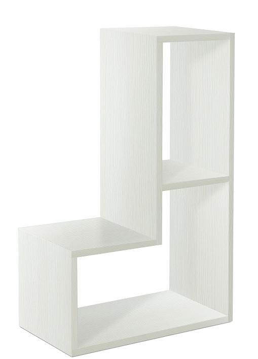 Modulo scaffale libreria in legno bianco a l for Scaffale legno bianco