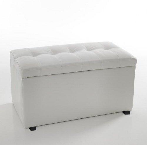 Panca porta tv in pietra fossile colore bianco agata - Panca imbottita ikea ...