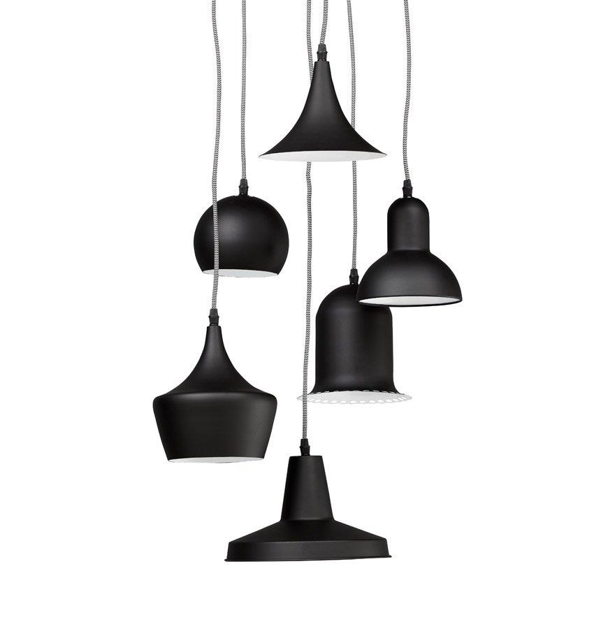 lampadario sospeso : Particolare lampadario Sospeso 6 Luci con Paralumi