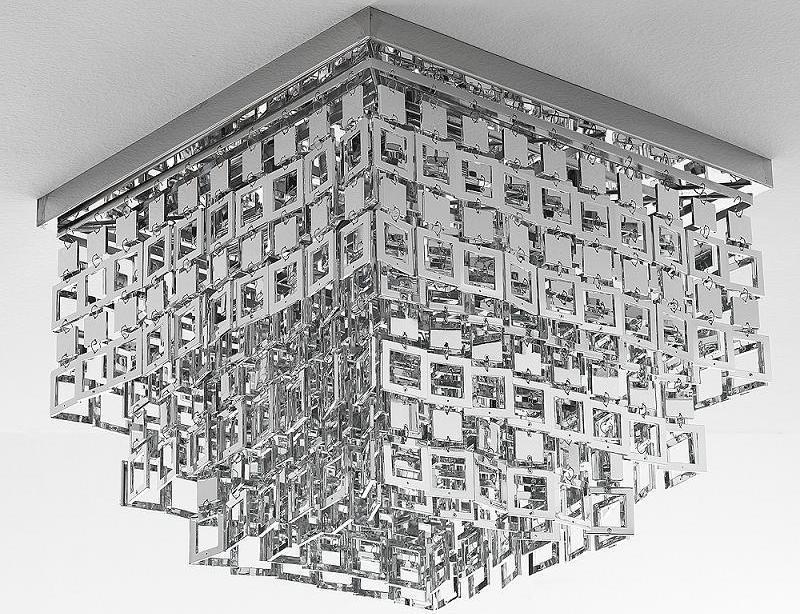 Plafoniera lampada da soffitto con pendenti cromo