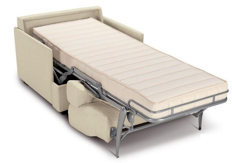 Poltrona letto singolo con braccioli sfoderabile ebay for Poltrona letto ikea usata