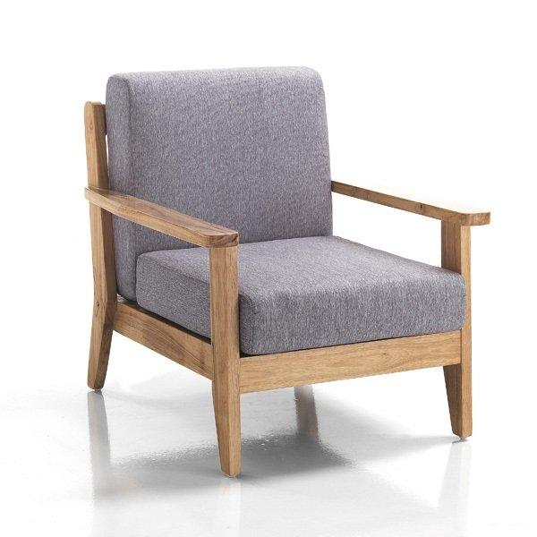 poltrona in legno massello stile rustico