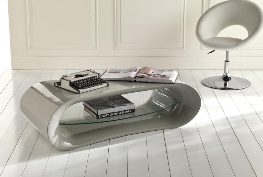 Porta tv moderno laccato grigio con ripiano vetro forma ovale - Ripiano porta tv ...