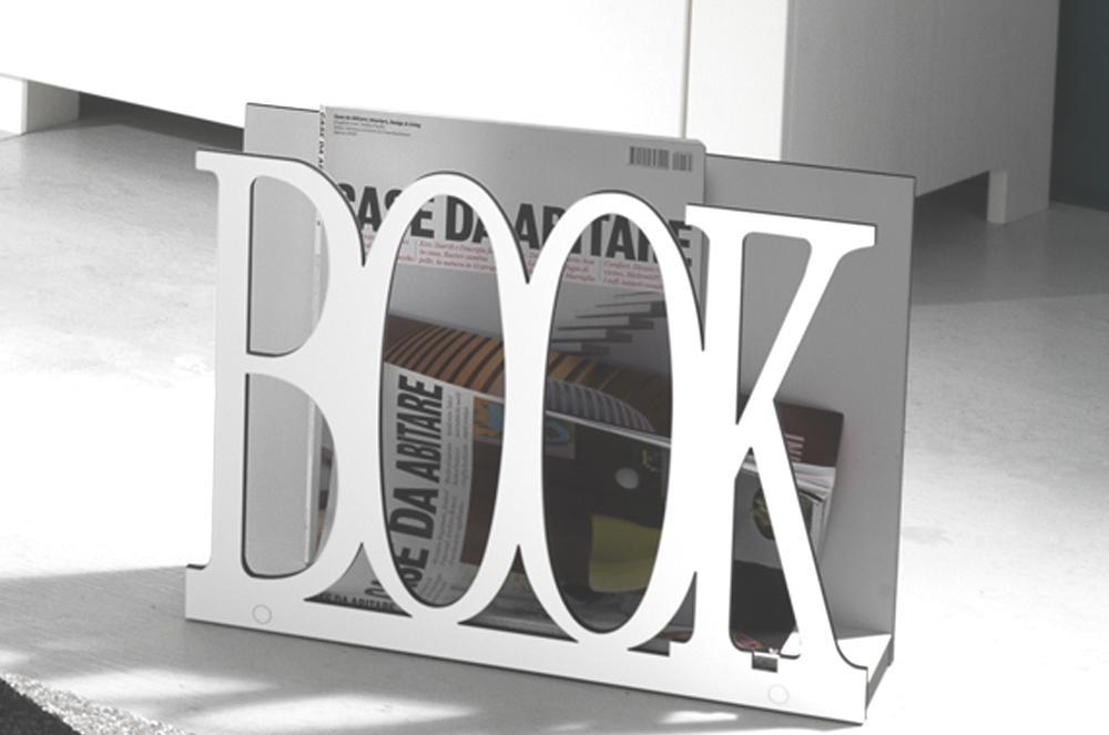 Porta riviste porta giornali da terra book bianco - Porta tv da terra ...