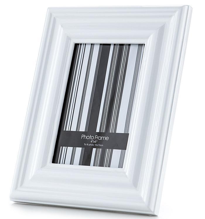 Portafoto cornice da tavolo tinto bianco classico - Portafoto da tavolo 20x30 ...