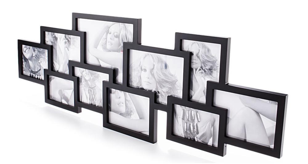 Portafoto da muro in legno contiene 8 foto - Portafoto da appendere ...