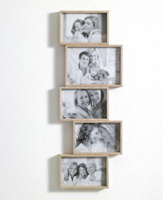 portafoto da muro in legno contiene 5 foto