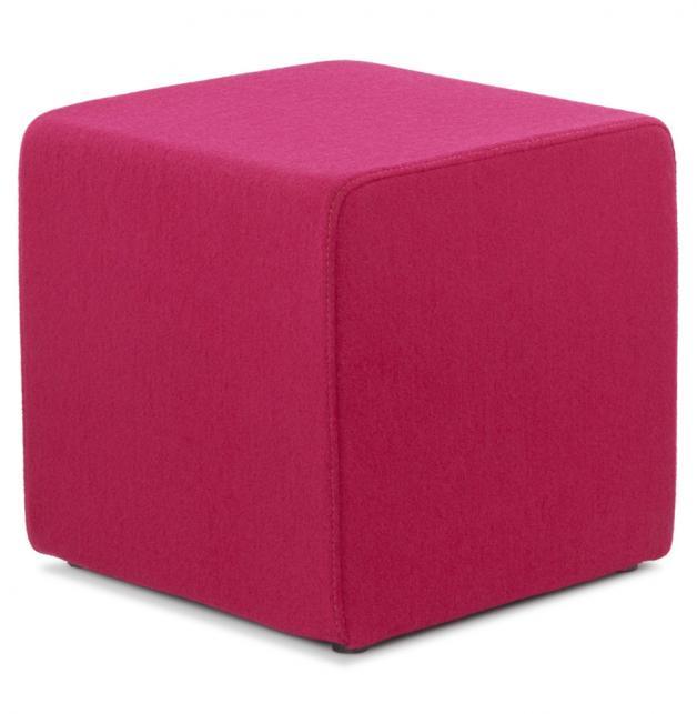 Il Pouf Arredamento.Pouf Cubo D Arredo In Tessuto Rosa