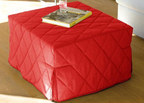 Pouf letto economico cotone colore rosso - Letto singolo economico ...