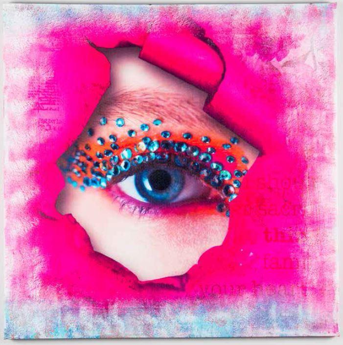 Quadro occhio strass