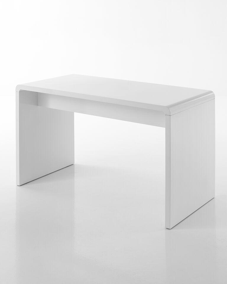 Scrivania scrittoio tavolo porta pc laccato bianco - Scrivania porta computer ikea ...