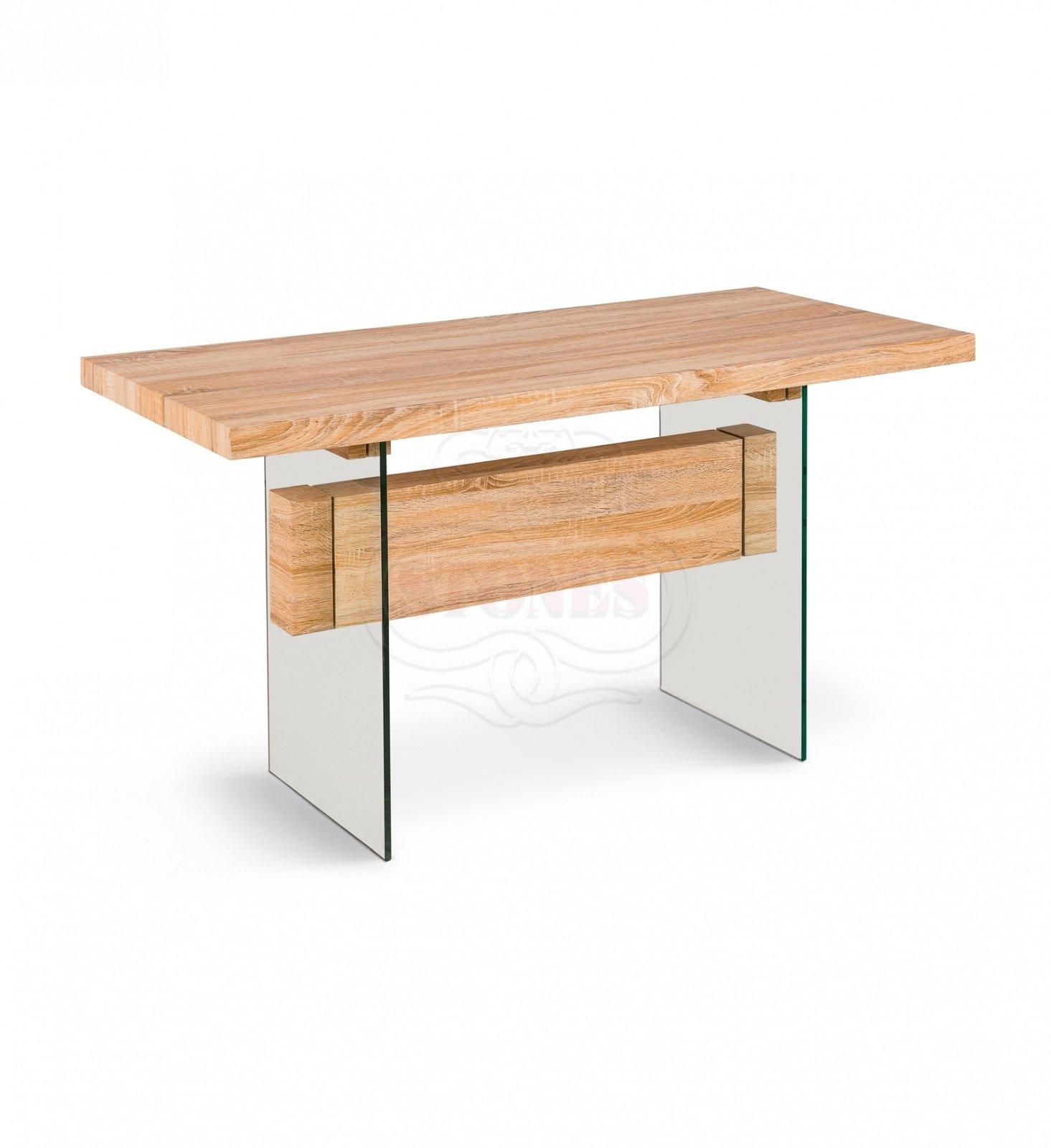 Scrivania tavolo da lavoro in Legno e Vetro