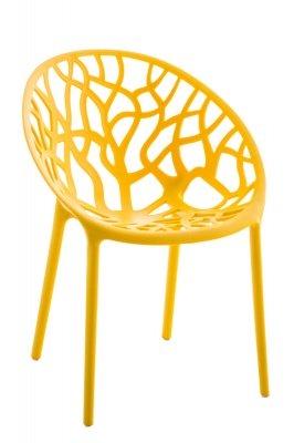 sedia lavorata particolare impilabile interno esterno giallo