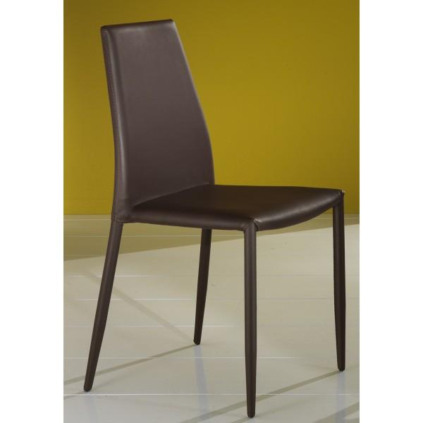Sedia Moderna Rivestita in Ecopelle 4 colori