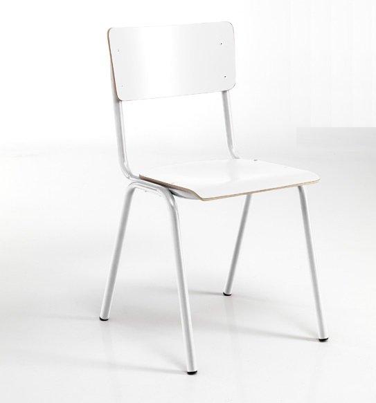 Sedia moderna e tradizionale scolastica rossa for Sedia bianca moderna
