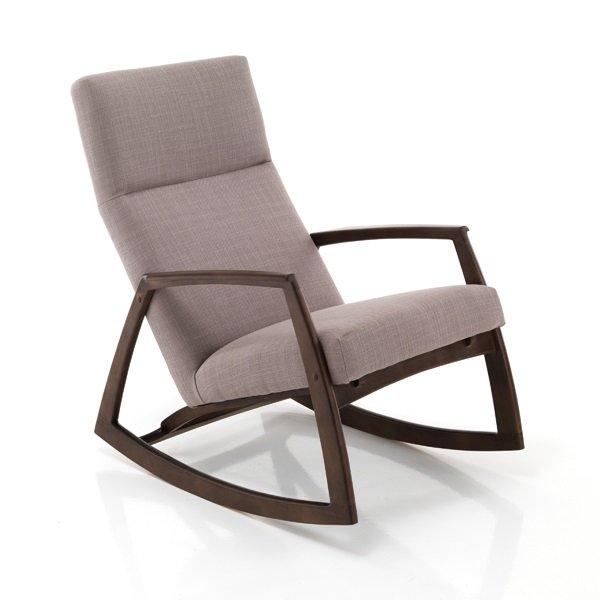 sedia poltrona a dondolo in legno massello e tessuto tortoraForSedia A Dondolo Tomasucci