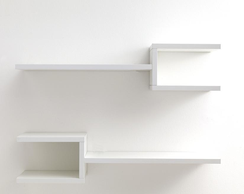 Set mensole colori bianco o rovere da muro