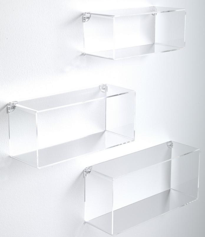 Set 3 mensole cubi trapezi da muro in legno for Mensole da muro