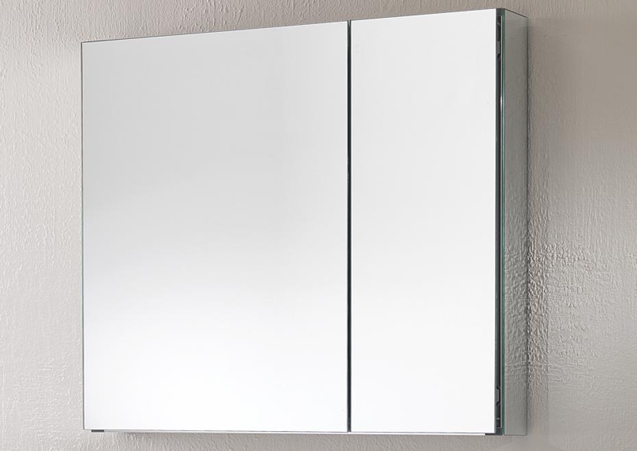 Specchio moderno contenitore 2 ante con ripiani - Specchio intero ...