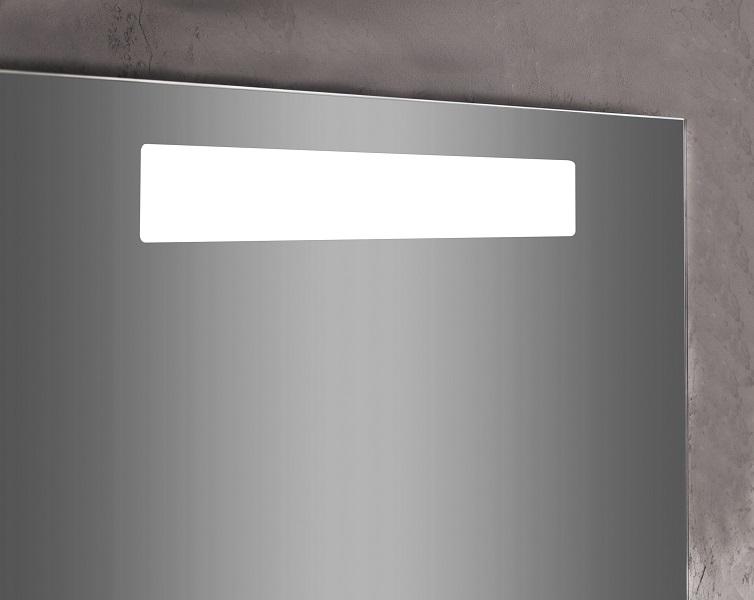 Specchiera da bagno rettangolare con luce led