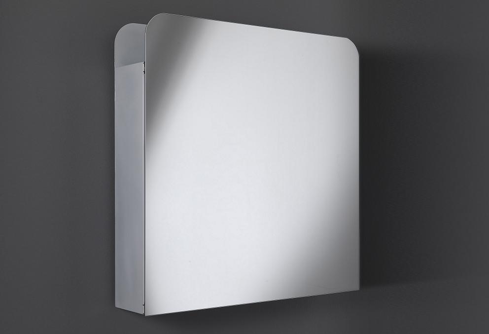 specchio contenitore da bagno ad 1 anta quadrato
