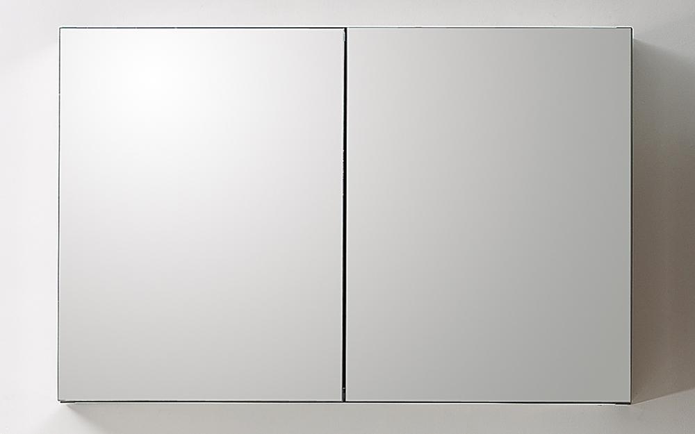 Specchio contenitore da bagno ad 1 anta quadrato - Specchio con ante per bagno ...