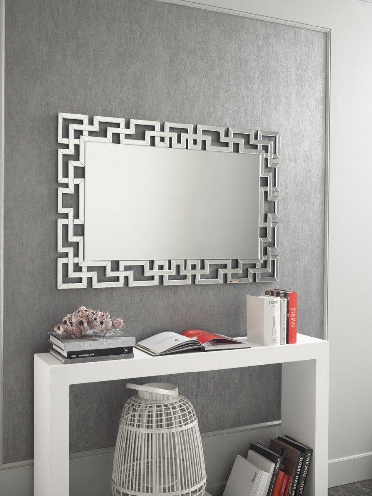 Specchio moderno rotondo lavorato da muro - Specchi arredo camera da letto ...